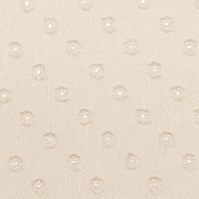 ポリエステル×ドット(エクリュ)×シフォンジョーゼット・カットジャガード_全2色 イメージ1