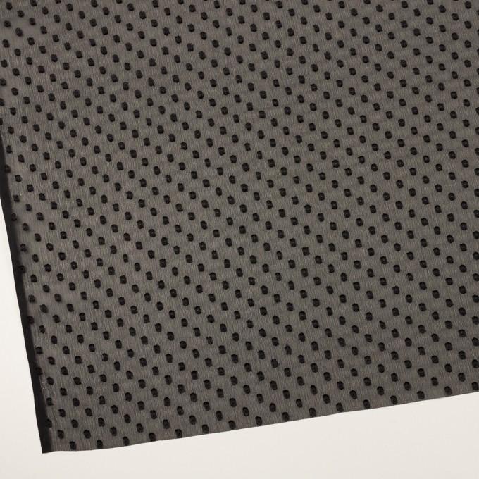 ポリエステル×ドット(ブラック)×シフォンジョーゼット・カットジャガード_全2色 イメージ2