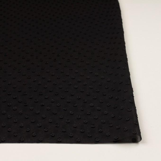 ポリエステル×ドット(ブラック)×シフォンジョーゼット・カットジャガード_全2色 イメージ3
