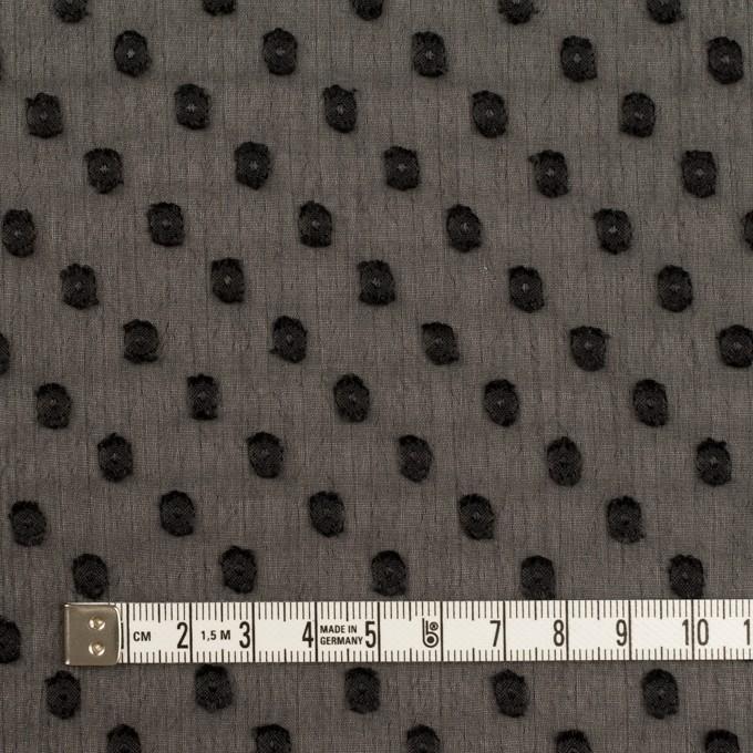 ポリエステル×ドット(ブラック)×シフォンジョーゼット・カットジャガード_全2色 イメージ4