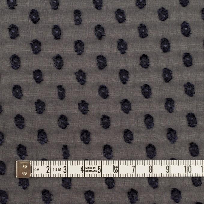ポリエステル×ドット(ダークネイビー)×シフォンジョーゼット・カットジャガード イメージ4