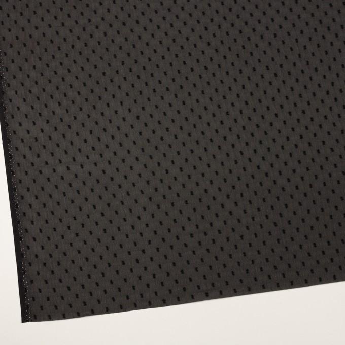 ポリエステル×ドット(ブラック)×シフォンジョーゼット・カットジャガード イメージ2