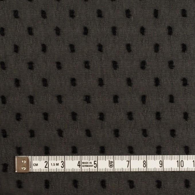 ポリエステル×ドット(ブラック)×シフォンジョーゼット・カットジャガード イメージ4