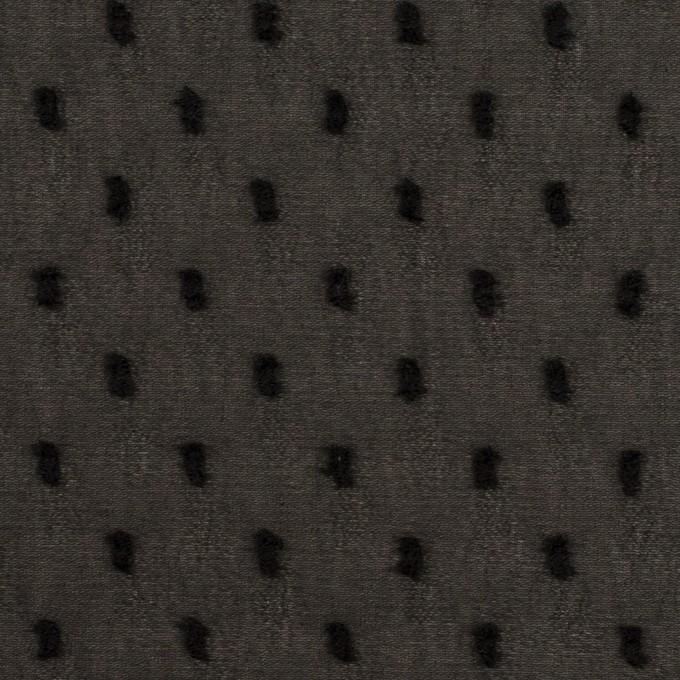 ポリエステル×ドット(ブラック)×シフォンジョーゼット・カットジャガード イメージ1