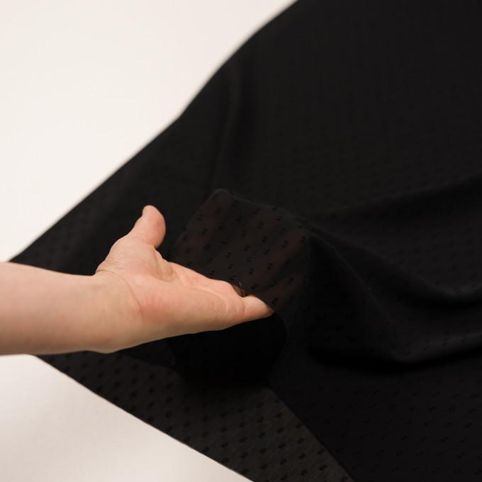 ポリエステル×ドット(ブラック)×シフォンジョーゼット・カットジャガード イメージ5