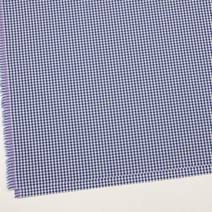 コットン&ポリエステル×チェック(マリンブルー)×ブロード イメージ2