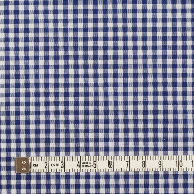 コットン&ポリエステル×チェック(マリンブルー)×ブロード イメージ4