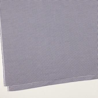 コットン×チェック(ネイビー)×斜子織 サムネイル2