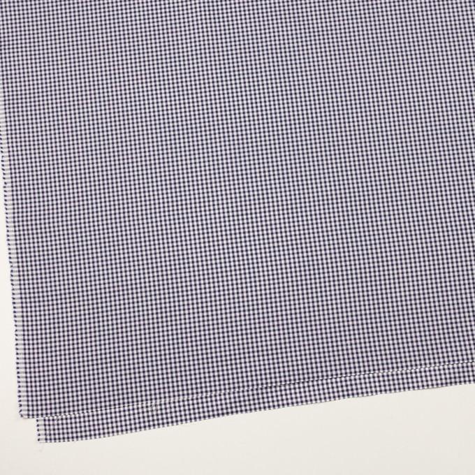 コットン×チェック(ネイビー)×斜子織 イメージ2