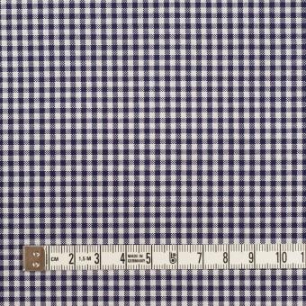 コットン×チェック(ネイビー)×斜子織 サムネイル4