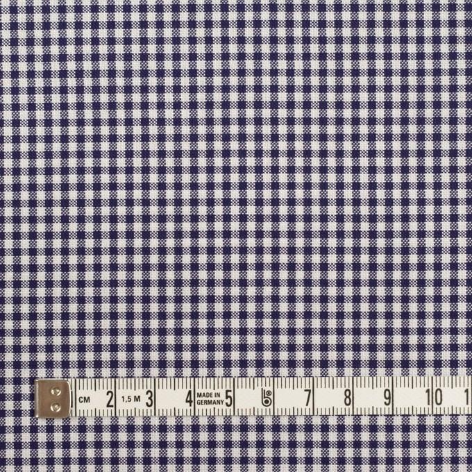 コットン×チェック(ネイビー)×斜子織 イメージ4