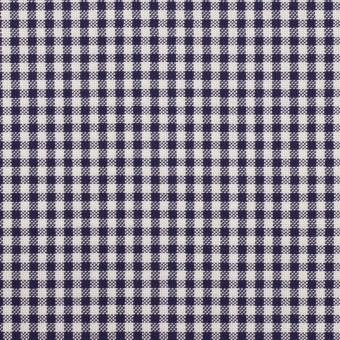 コットン×チェック(ネイビー)×斜子織