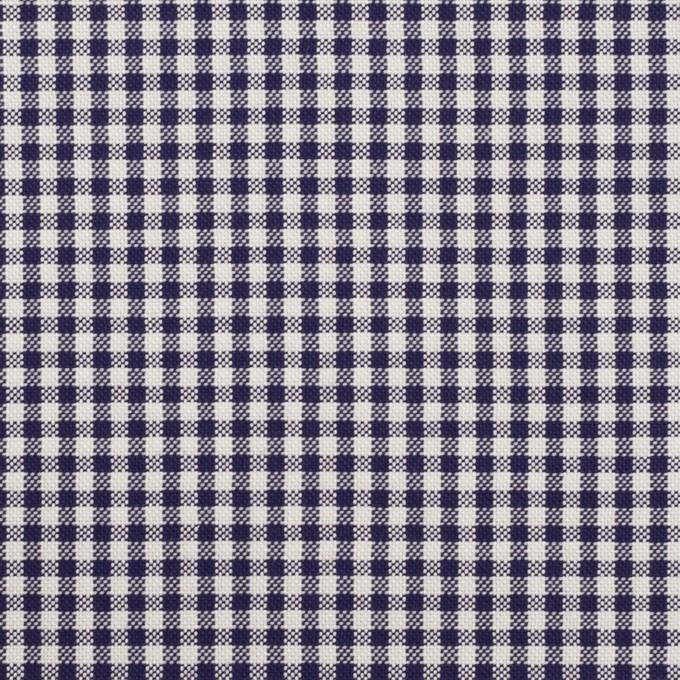 コットン×チェック(ネイビー)×斜子織 イメージ1