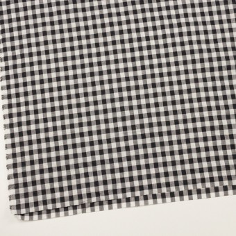 コットン×チェック(ブラック&アイボリー)×ボイルワッシャー サムネイル2