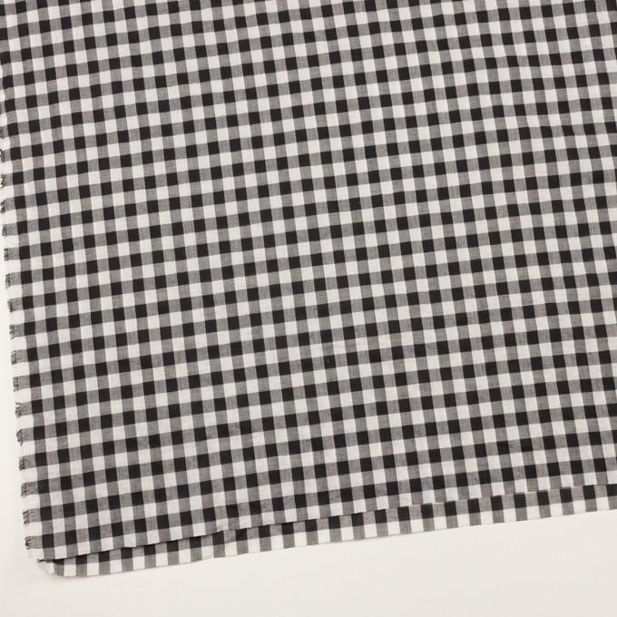 コットン×チェック(ブラック&アイボリー)×ボイルワッシャー イメージ2
