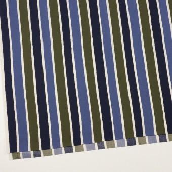 コットン&リヨセル×ストライプ(ウルトラマリン、ネイビー&カーキグリーン)×ブロード_全2色 サムネイル2