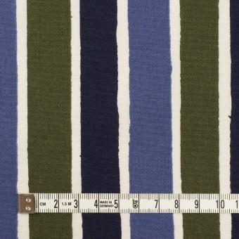 コットン&リヨセル×ストライプ(ウルトラマリン、ネイビー&カーキグリーン)×ブロード_全2色 サムネイル4