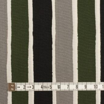 コットン&リヨセル×ストライプ(グレー、ブラック&カーキグリーン)×ブロード_全2色 サムネイル4
