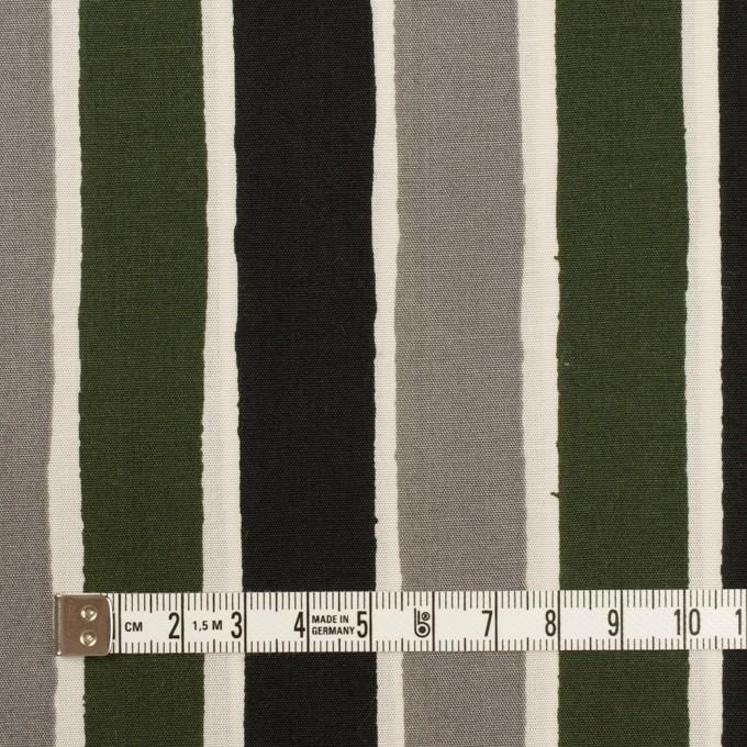 コットン&リヨセル×ストライプ(グレー、ブラック&カーキグリーン)×ブロード_全2色 イメージ4