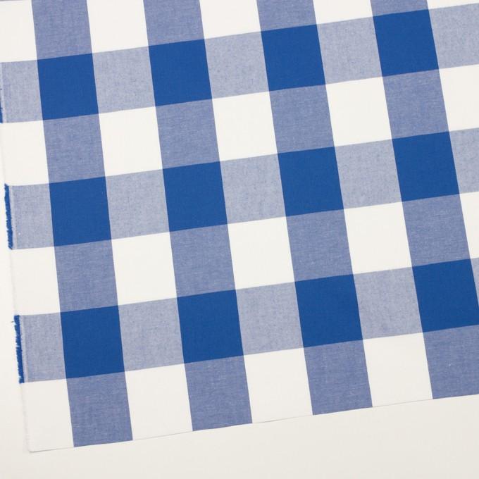 コットン×チェック(オリエンタルブルー)×サージ_全2色 イメージ2