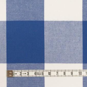 コットン×チェック(オリエンタルブルー)×サージ_全2色 サムネイル4