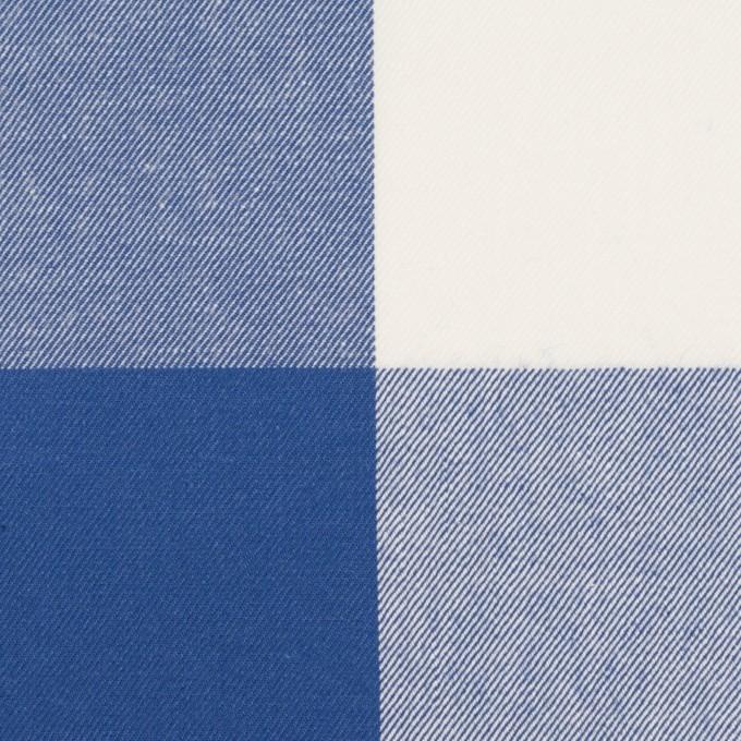 コットン×チェック(オリエンタルブルー)×サージ_全2色 イメージ1