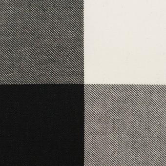 コットン×チェック(ブラック)×サージ_全2色 サムネイル1