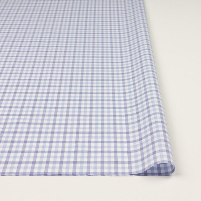 コットン&ポリウレタン×チェック(サックス&ブルー)×ブロードストレッチ イメージ3