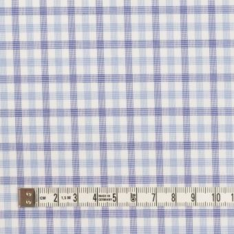 コットン&ポリウレタン×チェック(サックス&ブルー)×ブロードストレッチ サムネイル4