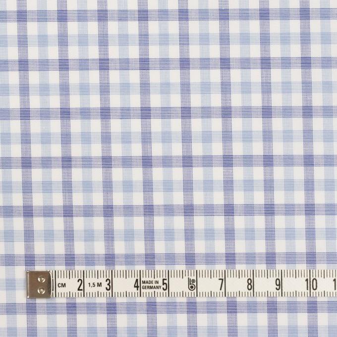 コットン&ポリウレタン×チェック(サックス&ブルー)×ブロードストレッチ イメージ4