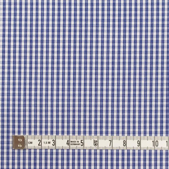 コットン×チェック(プルシアンブルー)×ブロード イメージ4