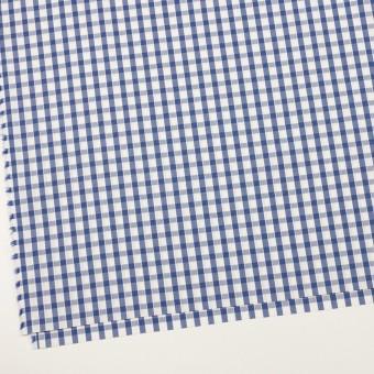 コットン×チェック(オリエンタルブルー)×ブロードジャガード サムネイル2