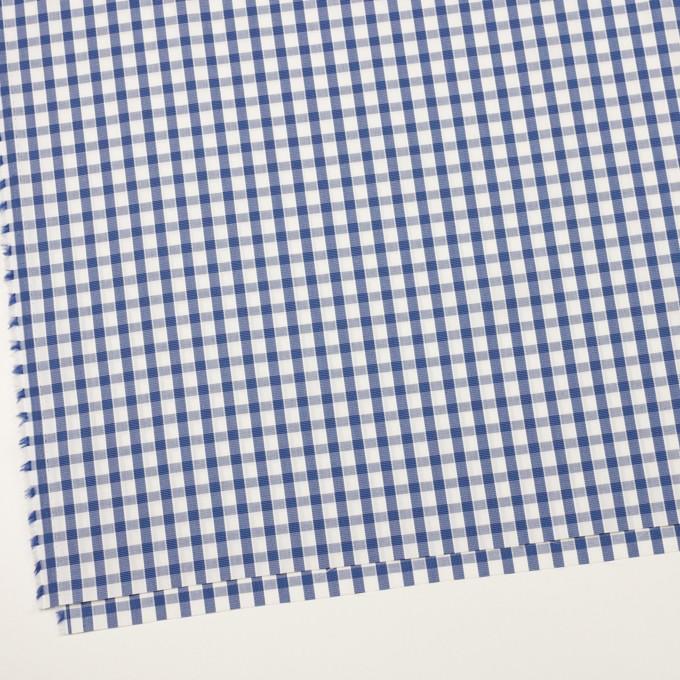 コットン×チェック(オリエンタルブルー)×ブロードジャガード イメージ2