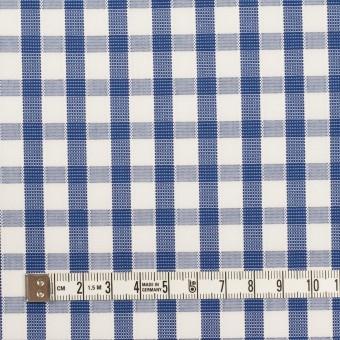 コットン×チェック(オリエンタルブルー)×ブロードジャガード サムネイル4