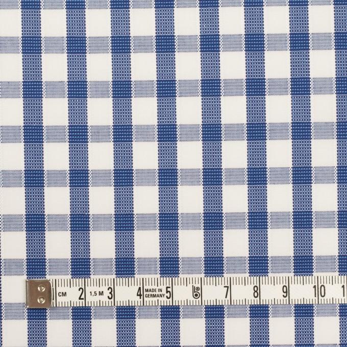 コットン×チェック(オリエンタルブルー)×ブロードジャガード イメージ4