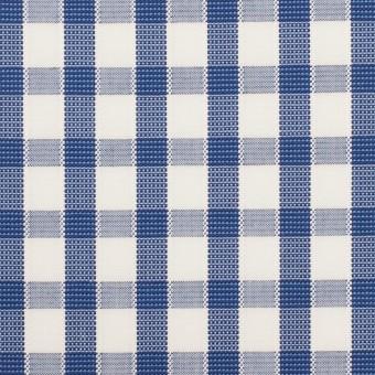 コットン×チェック(オリエンタルブルー)×ブロードジャガード サムネイル1