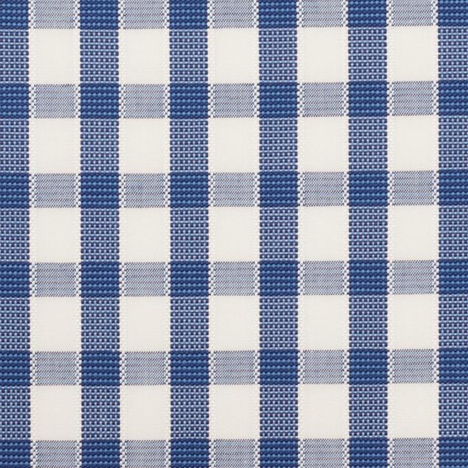 コットン×チェック(オリエンタルブルー)×ブロードジャガード イメージ1
