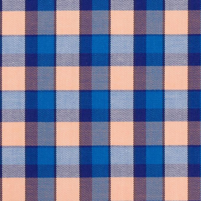 コットン×チェック(ブルー&ネープルス)×サージ イメージ1