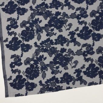 ポリエステル×フラワー(ネイビー)×オーガンジー刺繍 サムネイル2