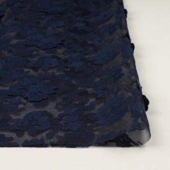 ポリエステル×フラワー(ネイビー)×オーガンジー刺繍 サムネイル3