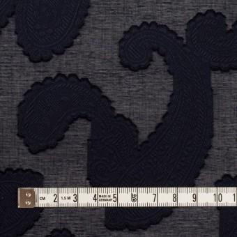 コットン×ペイズリー(ダークネイビー)×ボイルカット・ジャガード サムネイル4