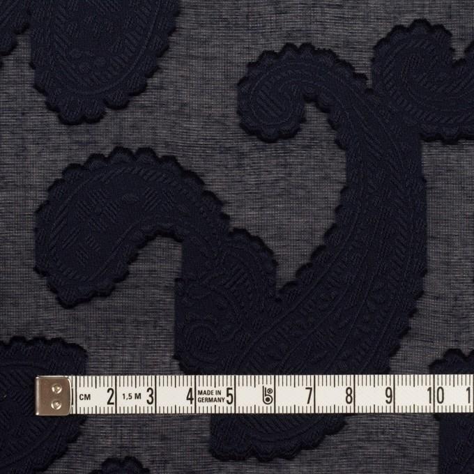 コットン×ペイズリー(ダークネイビー)×ボイルカット・ジャガード イメージ4