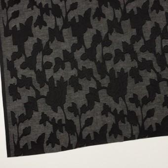 コットン×フラワー(ブラック)×ボイルカット・ジャガード サムネイル2