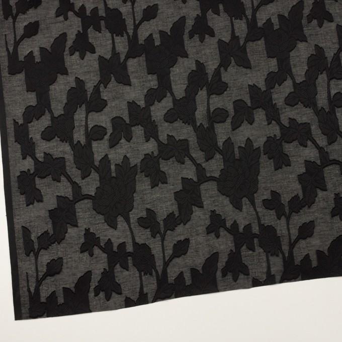 コットン×フラワー(ブラック)×ボイルカット・ジャガード イメージ2