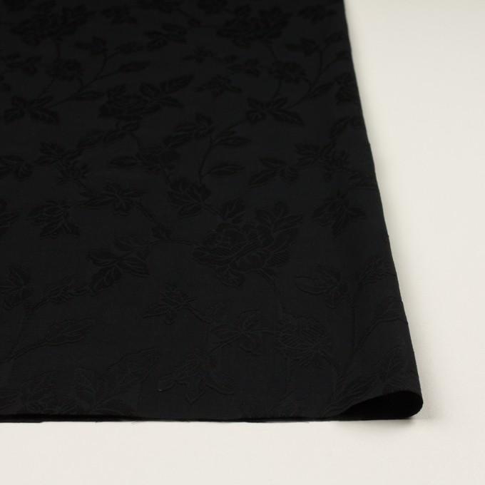コットン×フラワー(ブラック)×ボイルカット・ジャガード イメージ3