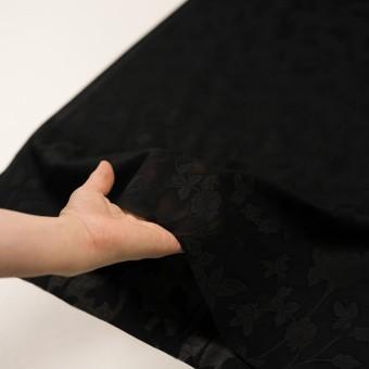 コットン×フラワー(ブラック)×ボイルカット・ジャガード サムネイル5