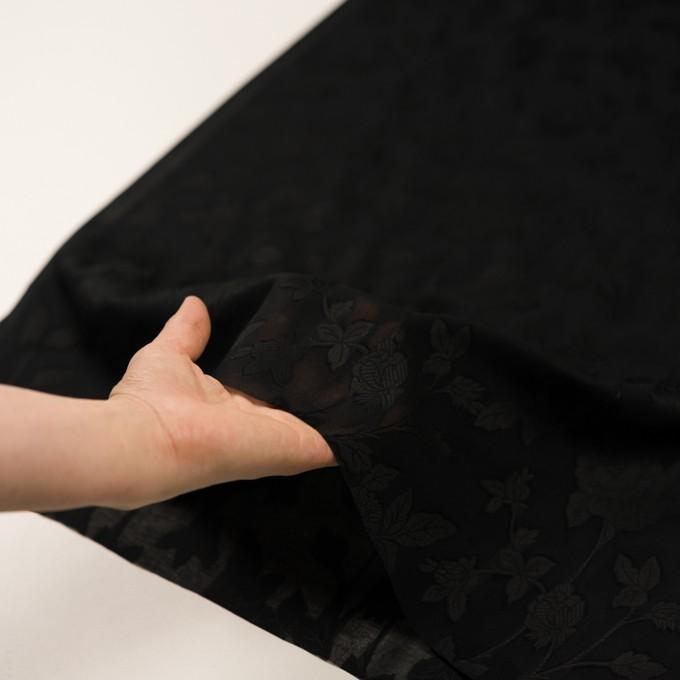 コットン×フラワー(ブラック)×ボイルカット・ジャガード イメージ5