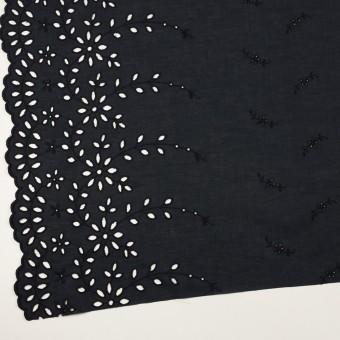 コットン×フラワー(ダークネイビー)×ローン刺繍 サムネイル2
