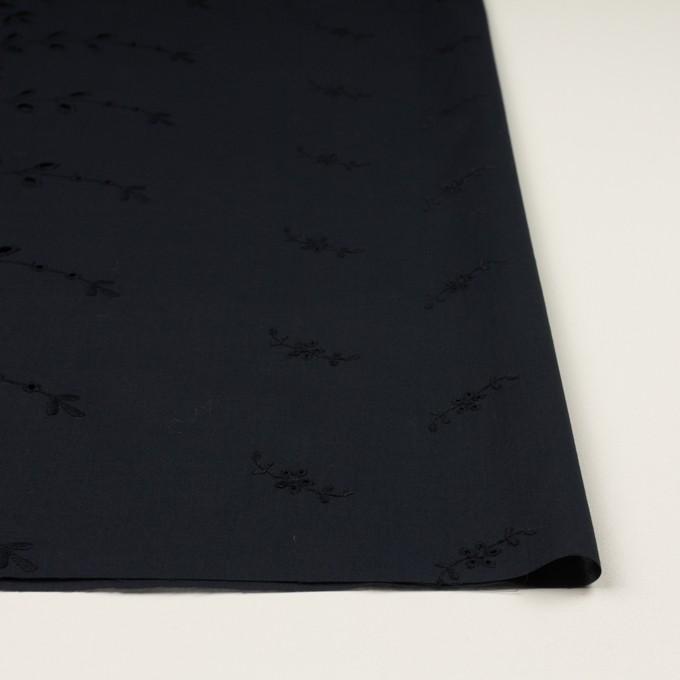 コットン×フラワー(ダークネイビー)×ローン刺繍 イメージ3