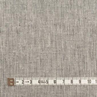 リネン&コットン×ストライプ(チャコール&エクリュ)×キャンバス_全2色 サムネイル4